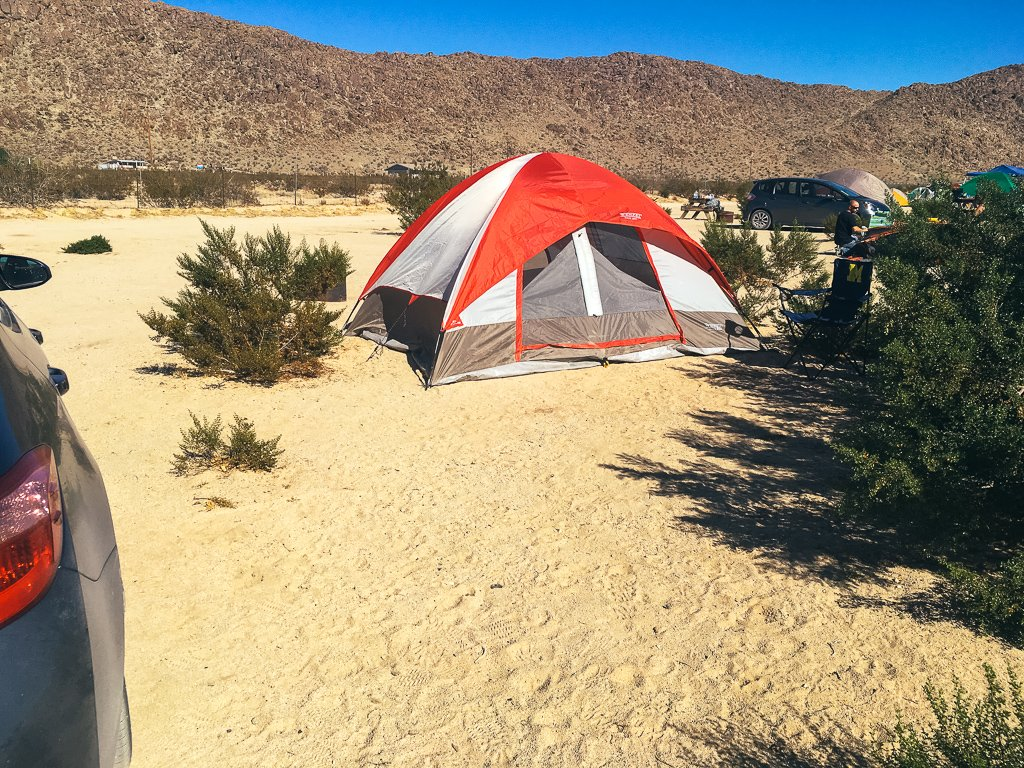Camping at Joshua Tree Lake RV & Campground. Just one of our recommendations for the best places to stay near Joshua Tree.