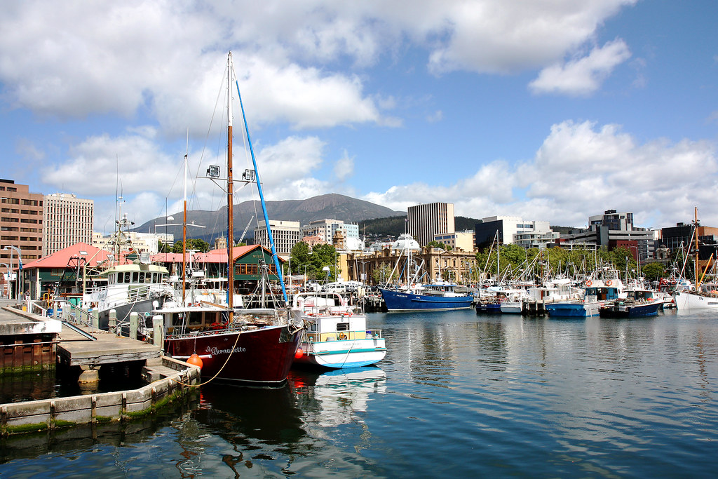 waterfront in Hobart, Tasmania