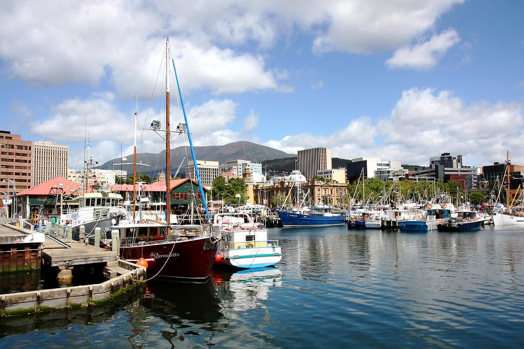 waterfront in Hobart, Tasmania
