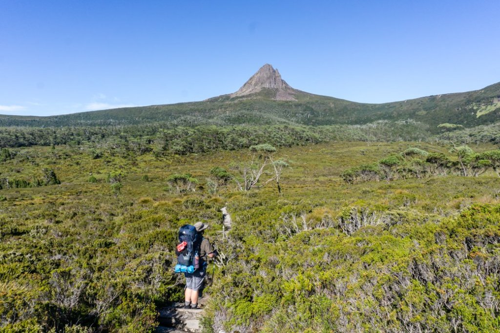 Barn Bluff. Hike this peak as a side trip from the Overland Track.