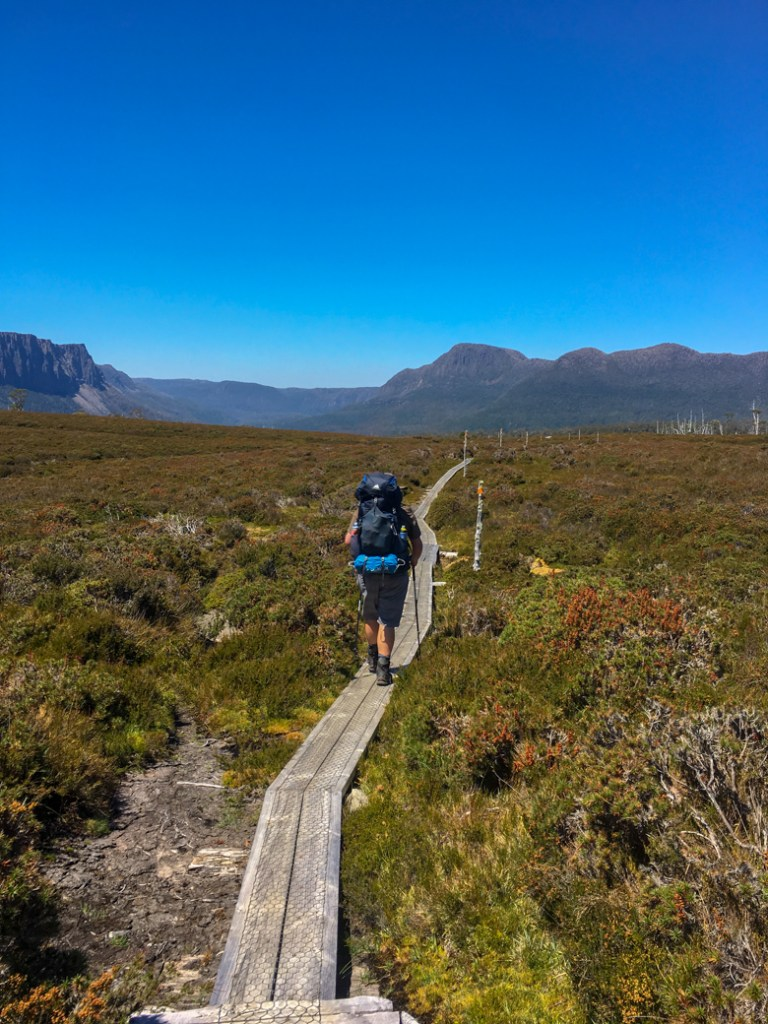 Walking on the Overland Track. Get your info on the standard 6-Day Overland Track Itinerary plus lots of itinerary options for 4 to 12 day trips.