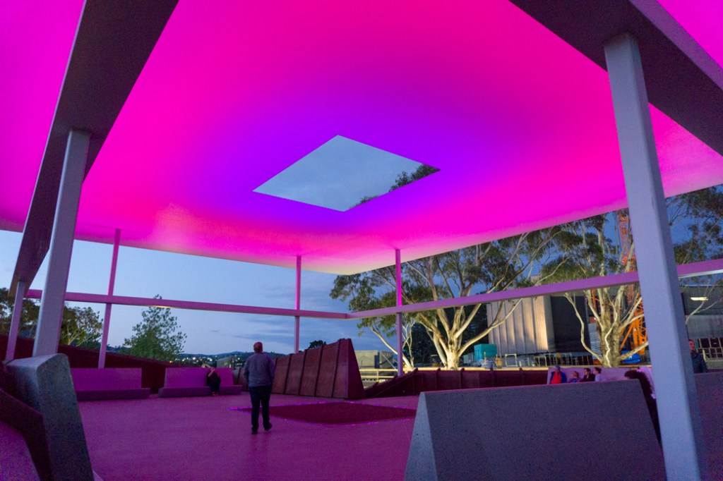 Amarna by James Turnell at sunset at MONA in Hobart, Tasmania