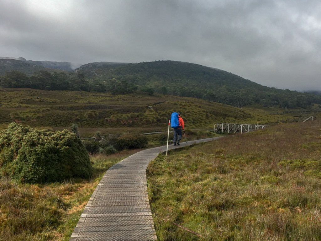 The first section of the Overland Track from Ronny Creek to Waterfall Valley