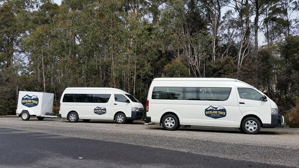 Shuttle buses are just one type of Overland Track transport to get to and from the trail.