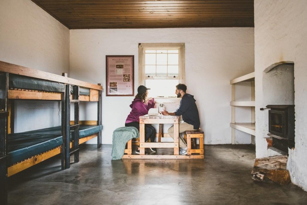 The bunk rooms at Darling Penitentiary on Maria Island, Tasmania, Australia