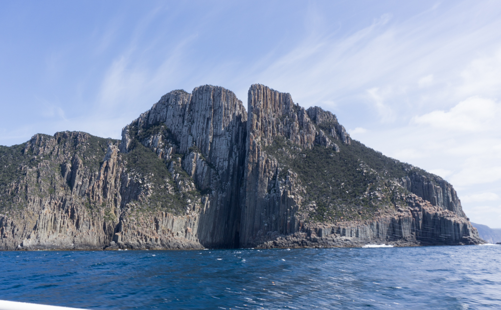 Cape Pillar from the Tasman Island boat cruise