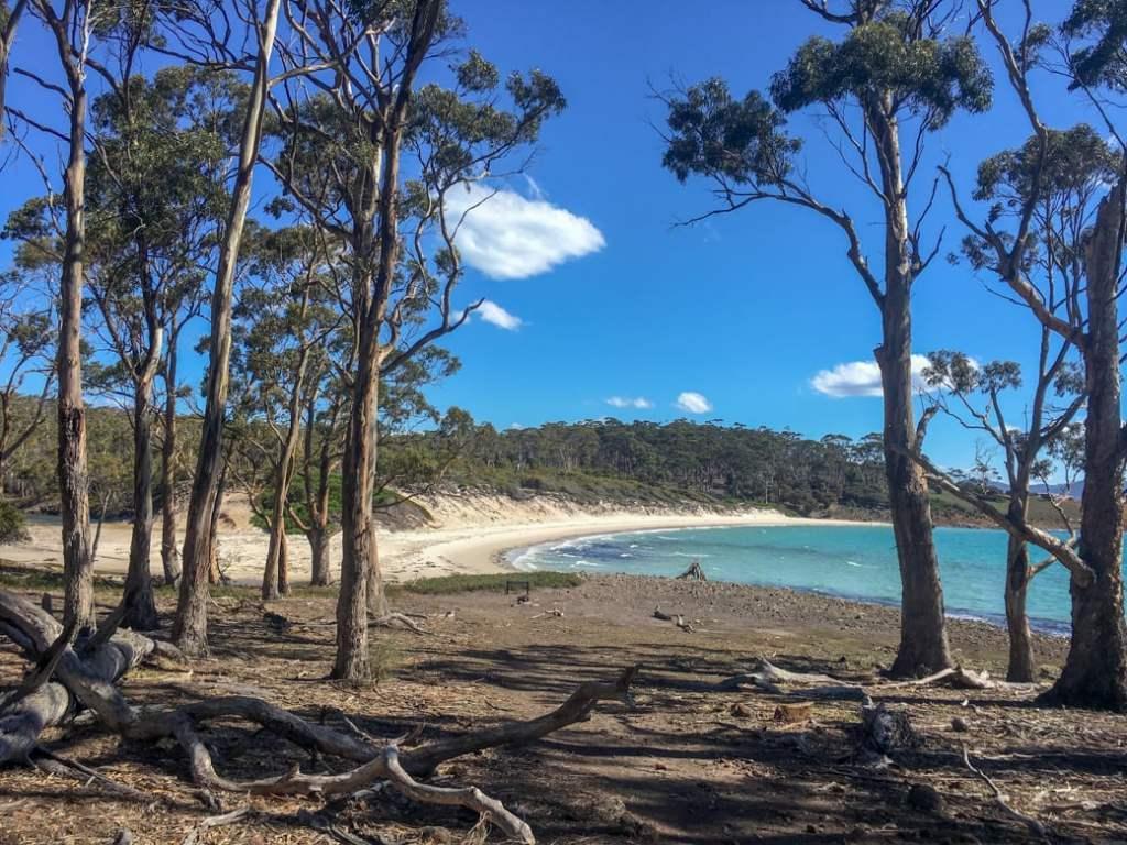 Four Mile Beach on Maria Island, Tasmania