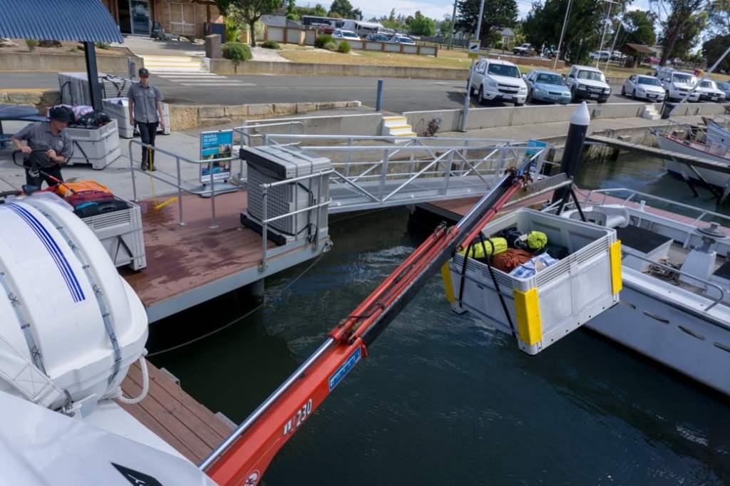 Loading the Maria Island Ferry