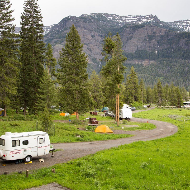 Pebble Creek Campground in Yellowstone National Park