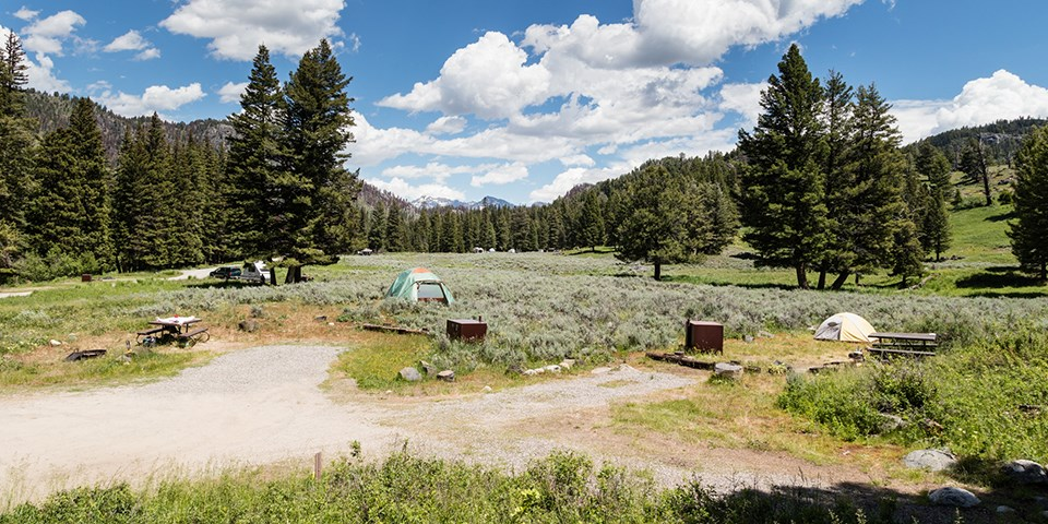 Camping at Slough Creek Campground in Yellowstone National Park