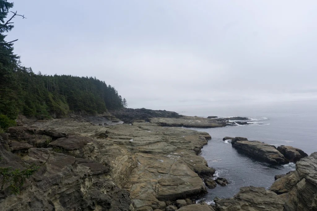The view from Sea Lion Rocks on the West Coast Trail