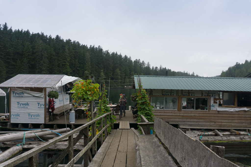 The Crab Shack at Nitinat Narrows on the West Coast Trail