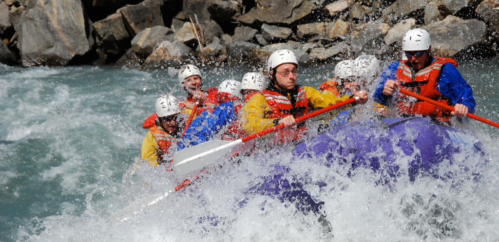 Whitewater rafting in Revelstoke, BC