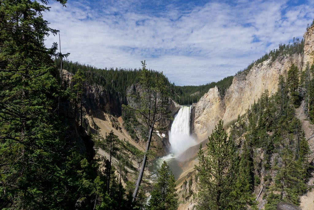 Lower Falls in the Grand Canyon of the Yellowstone