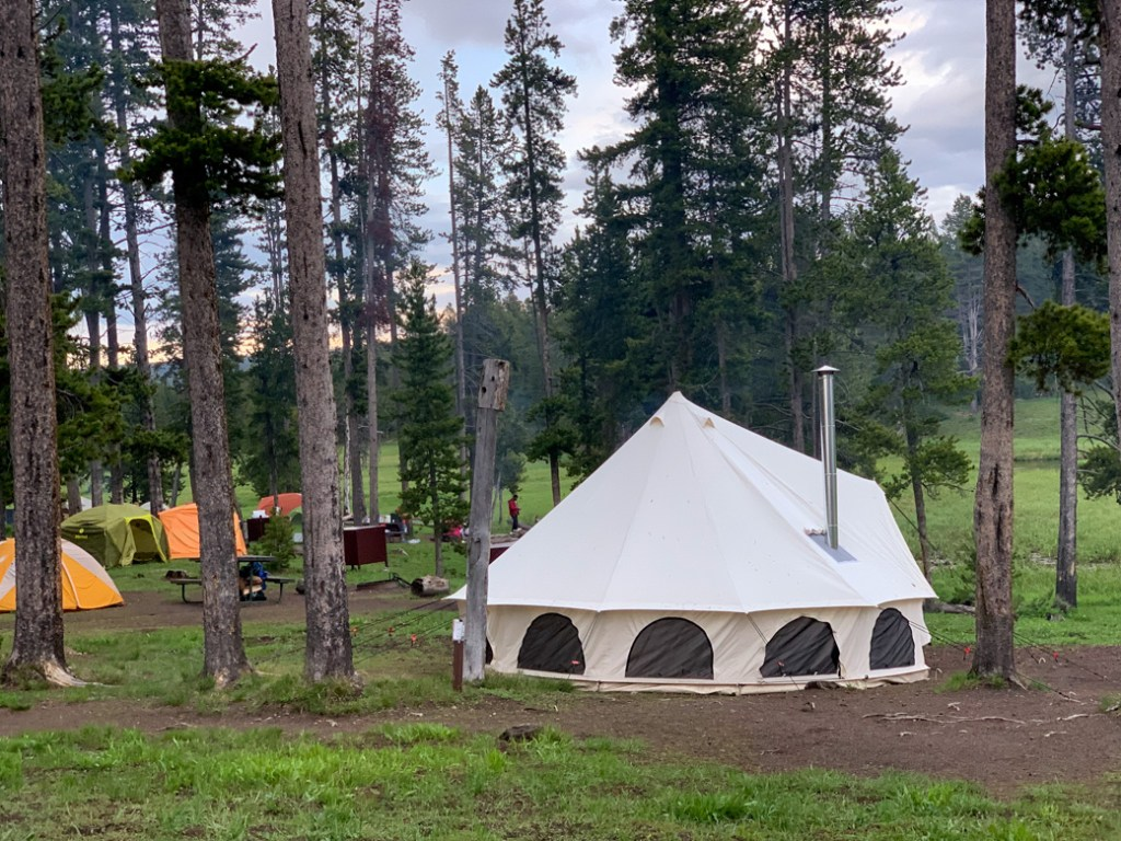 Camping in Yellowstone National Park