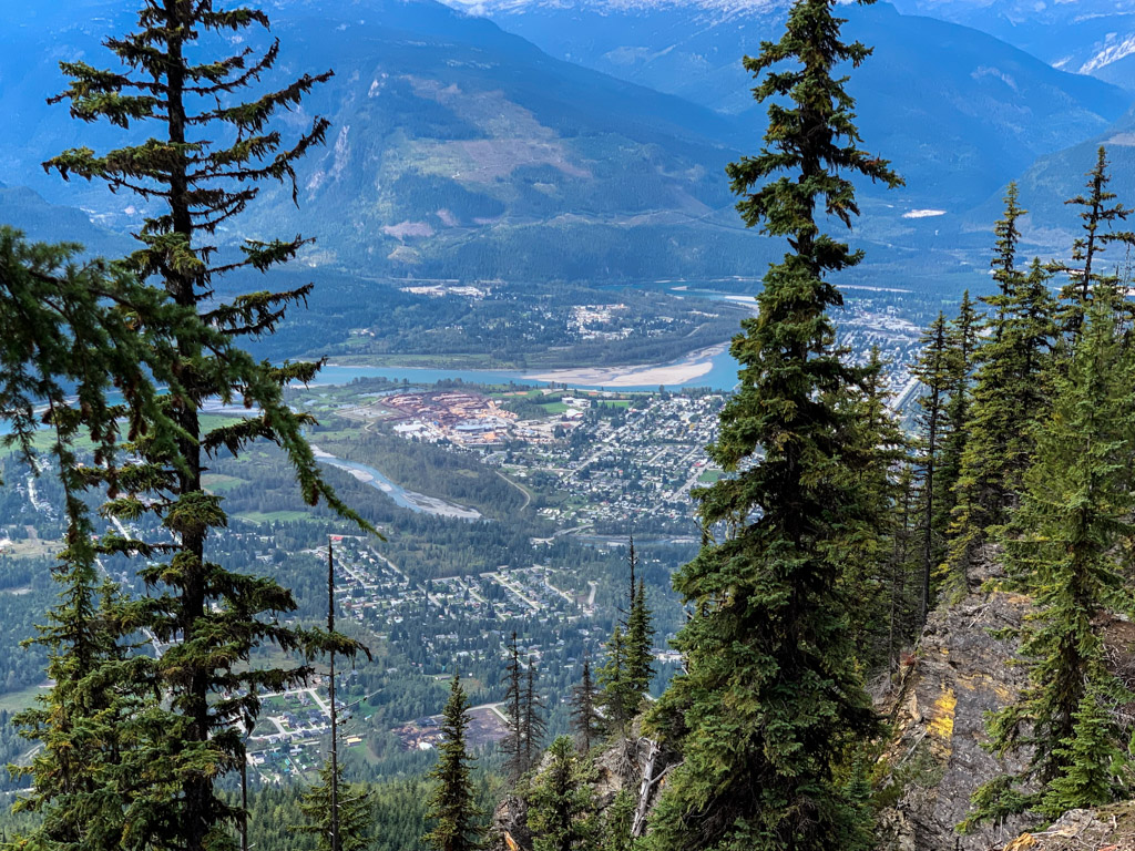 View of Revelstoke from the Revelstoke Mountain gondola