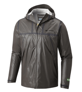 Columbia OutDry Ex Eco Rain Jacket. A super-sustainable gift for hikers.
