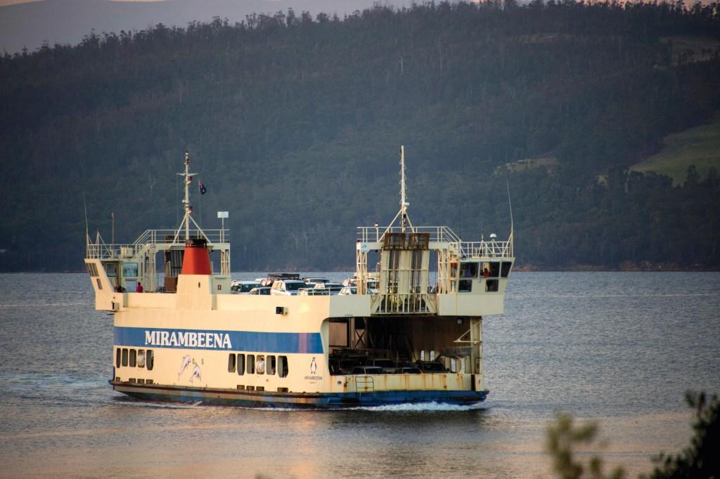 The ferry to Bruny Island, Tasmania