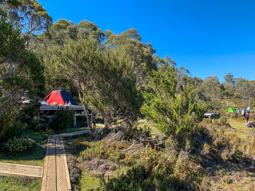 Wild Dog Creek campsite in Walls of Jerusalem, Tasmania