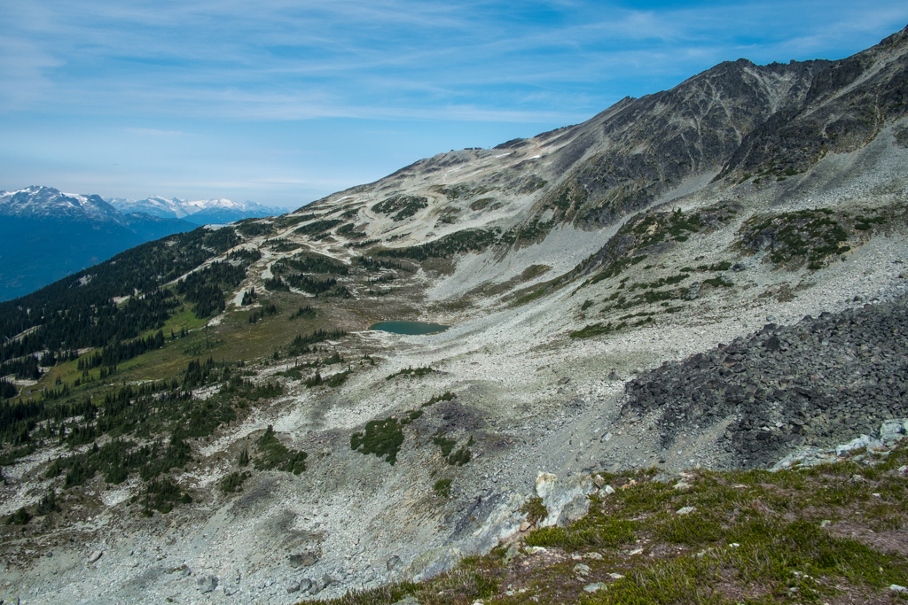 The slopes of Blackcomb Peak near Whistler in summer