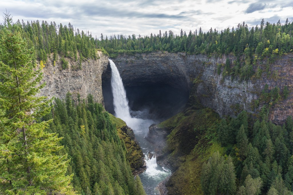 Helmcken Falls in Wells Gray Provincial Park - an easy weekend getaway from Vancouver