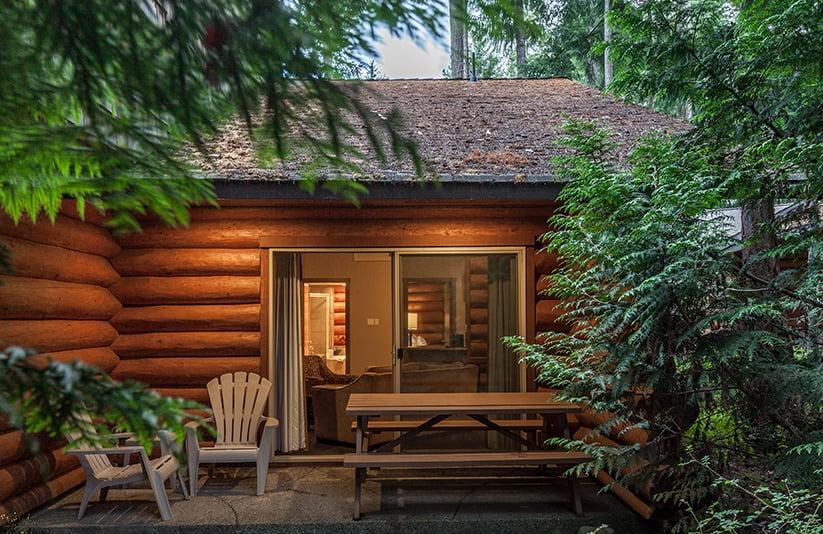 Log Cabin at Tigh-Na-Mara Resort on Vancouver Island