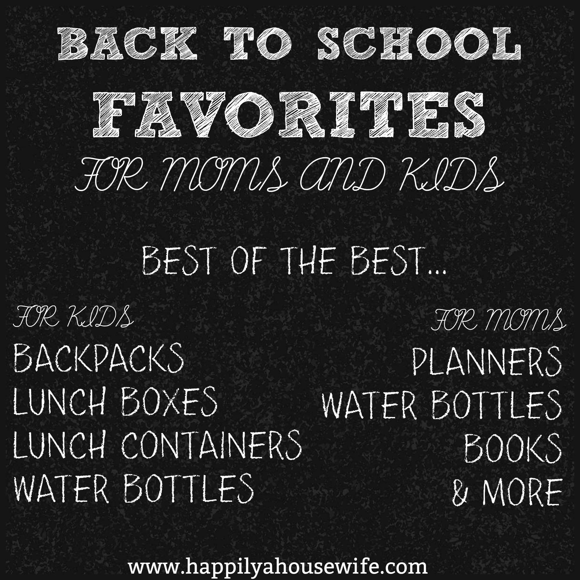 Back To School Favorites
