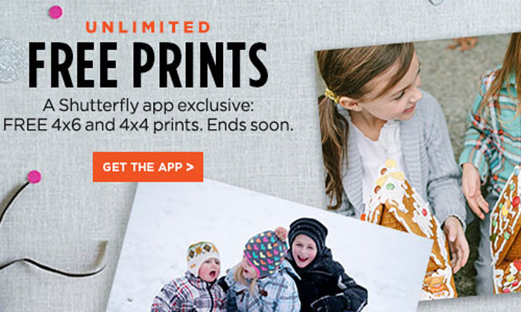 Free Prints Package from Shutterfly