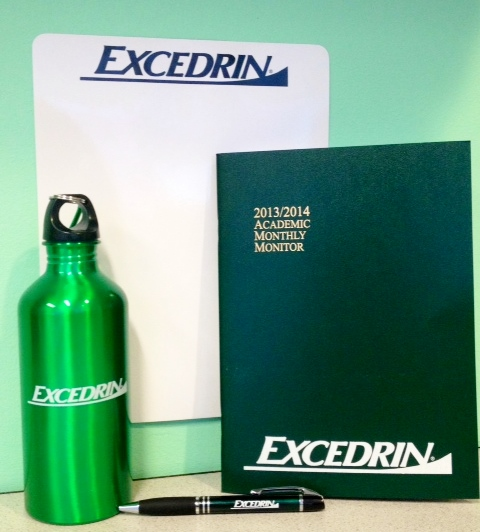Excedrin Giveaway Items