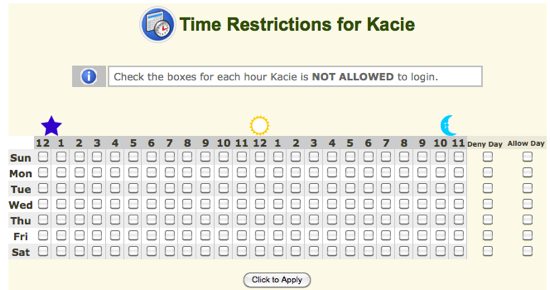 kids email time restrictions