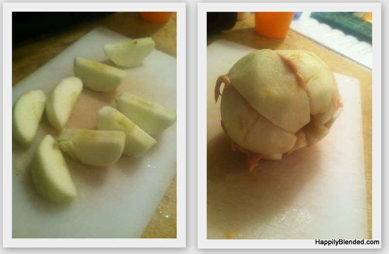 Apple and Peanut Butter Snack Idea (1)