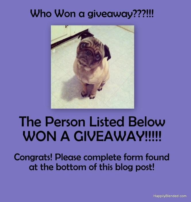 Giveaway WinnerS Announced