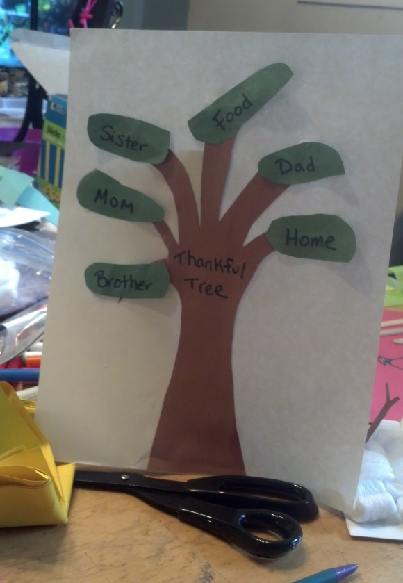 Thankful Crafts for Preschool or Toddler ages