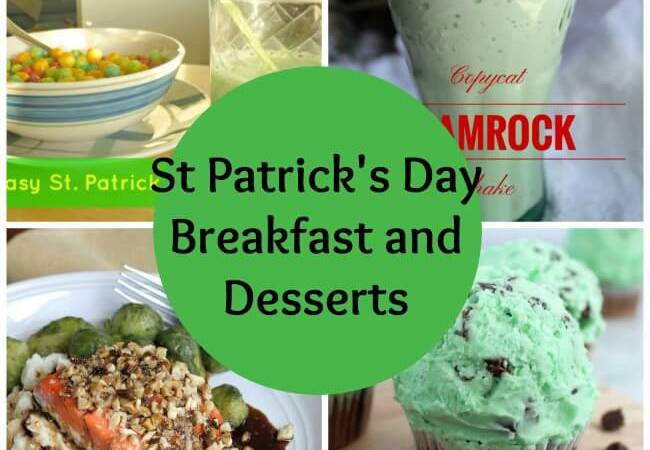 St Patrick's Day Breakfast and Desserts Roundup