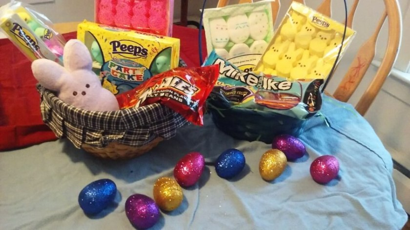 Easter Basket with PEEPS