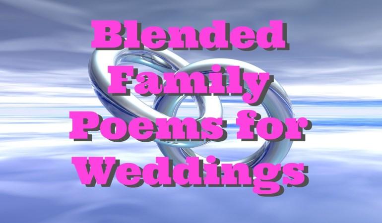 Blended Family Poems for Weddings |