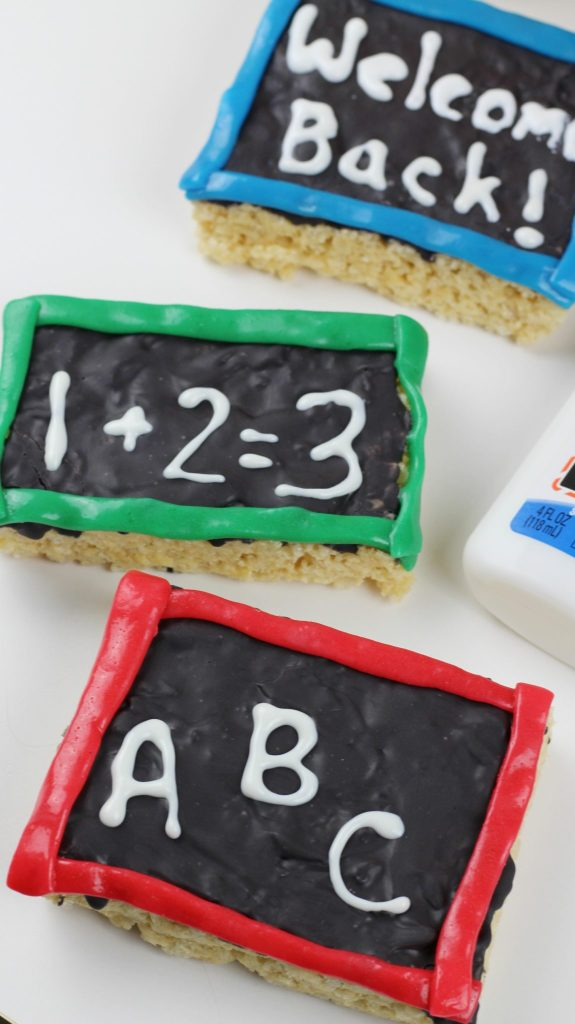 happily blended features Chalkboard Krispies
