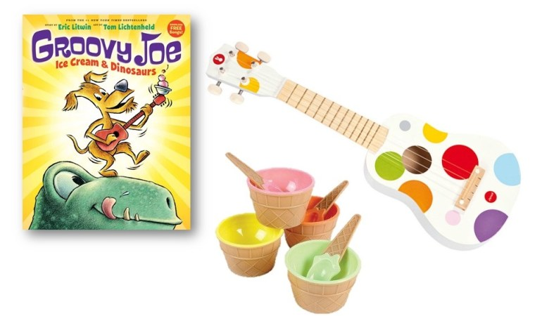 Groovy Joe: Ice Cream & Dinosaurs Book Plus a Ukele? #GroovyJoe