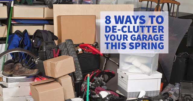 8 Ways to De-clutter Your Garage