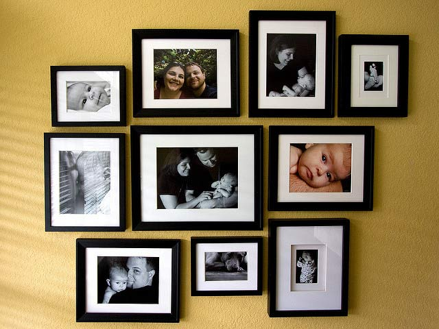 family wall photo