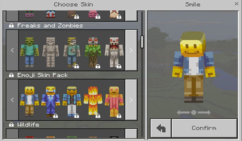 Changing Skins in the PC Edition