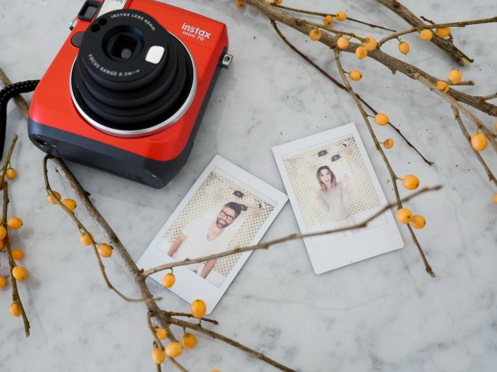 Instax mini photos of Eva Amurri Martino and Kyle Martino