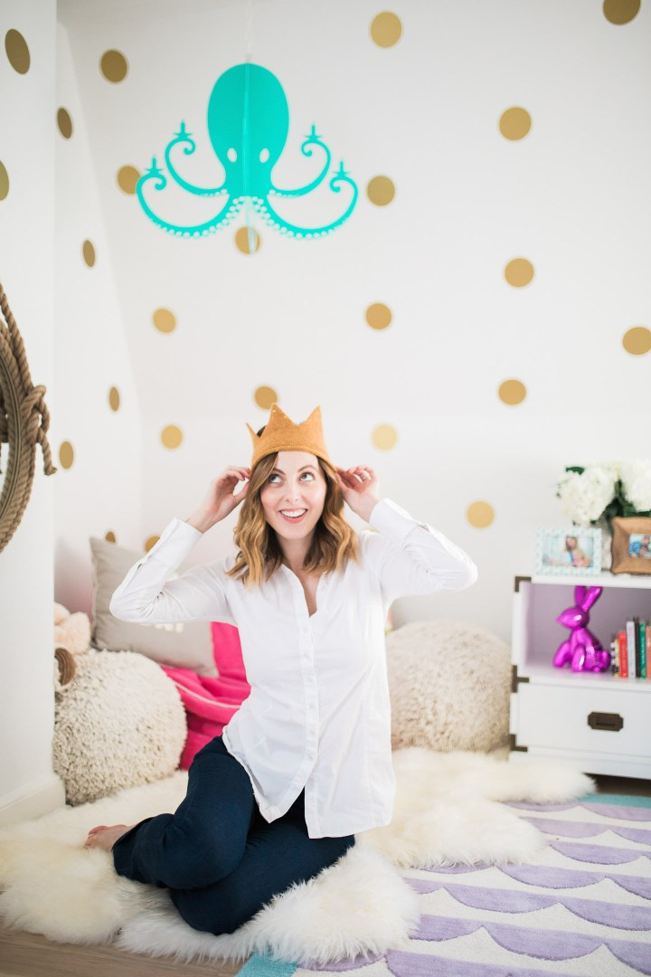 Eva Amurri Martino pictured in the room she designed for her daughter Marlowe in their connecticut home