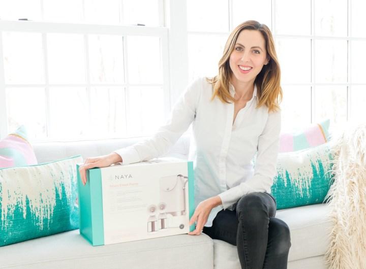 Eva Amurri Martino pictured with the Naya Health Breast Pump