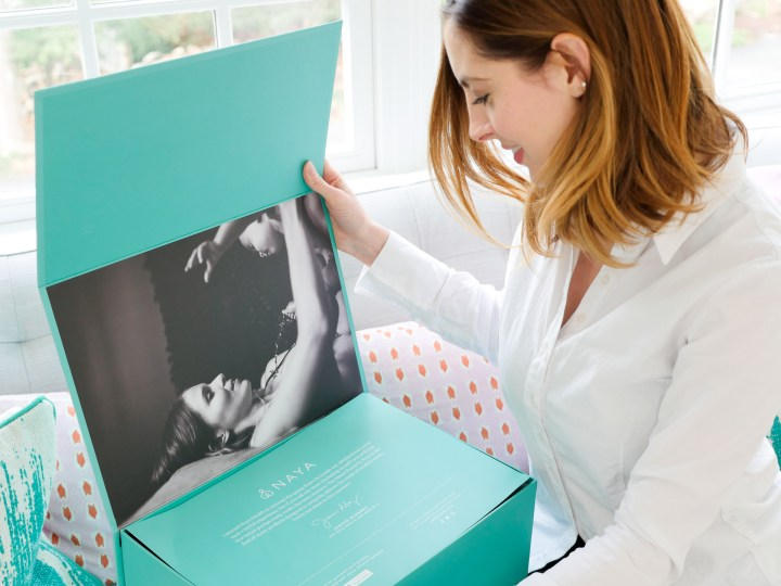 Eva Amurri Martino of lifestyle and Motherhood blog Happily Eva After opens the Naya breast pump