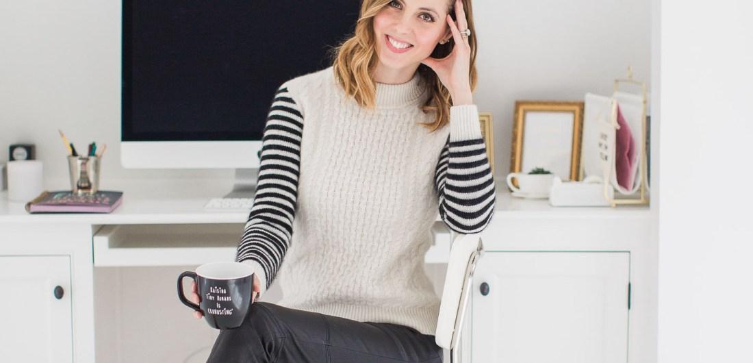 Lifestyle blogger Eva Amurri Martino is pictured in her studio