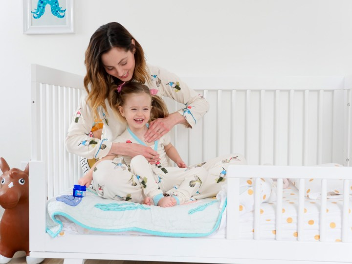 Eva Amurri Martino applies Vicks Vaporub to her daughter Marlowe's chest