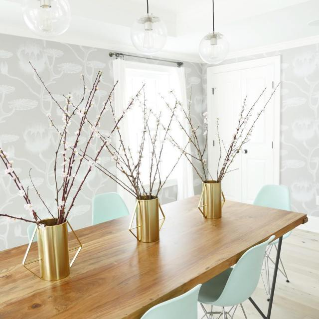 Spring has sprung!! Loving these blossoming branches in my dininghellip