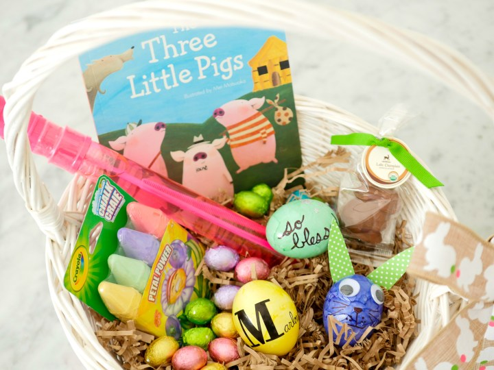 Eva Amurri Martino shows off the colorful contents of her children's Easter Baskets