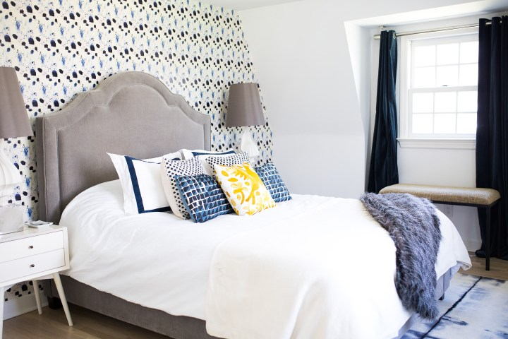 Eva Amurri Martino's fun and chic guest room in connecticut after a fresh revamp